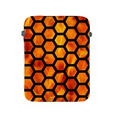 Hexagon2 Black Marble & Fire (r) Apple Ipad 2/3/4 Protective Soft Cases by trendistuff
