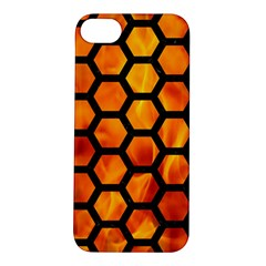 Hexagon2 Black Marble & Fire (r) Apple Iphone 5s/ Se Hardshell Case by trendistuff