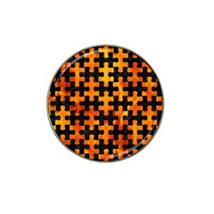 Puzzle1 Black Marble & Fire Hat Clip Ball Marker (10 Pack) by trendistuff
