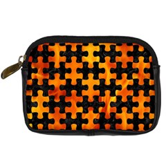 Puzzle1 Black Marble & Fire Digital Camera Cases by trendistuff