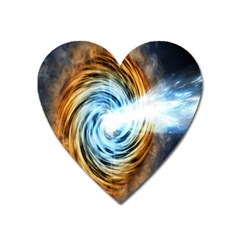 A Blazar Jet In The Middle Galaxy Appear Especially Bright Heart Magnet by Mariart