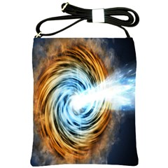 A Blazar Jet In The Middle Galaxy Appear Especially Bright Shoulder Sling Bags by Mariart