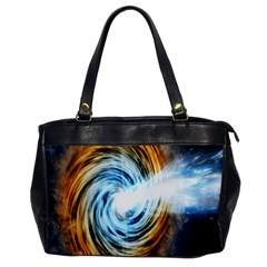 A Blazar Jet In The Middle Galaxy Appear Especially Bright Office Handbags by Mariart