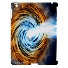 A Blazar Jet In The Middle Galaxy Appear Especially Bright Apple Ipad 3/4 Hardshell Case (compatible With Smart Cover) by Mariart