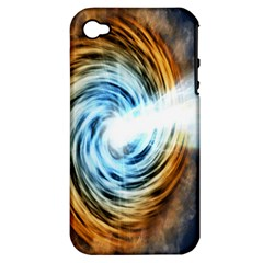 A Blazar Jet In The Middle Galaxy Appear Especially Bright Apple Iphone 4/4s Hardshell Case (pc+silicone) by Mariart