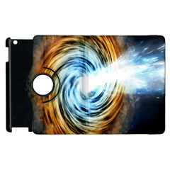 A Blazar Jet In The Middle Galaxy Appear Especially Bright Apple Ipad 2 Flip 360 Case by Mariart