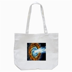 A Blazar Jet In The Middle Galaxy Appear Especially Bright Tote Bag (white) by Mariart