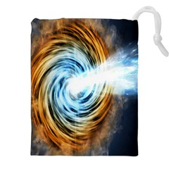 A Blazar Jet In The Middle Galaxy Appear Especially Bright Drawstring Pouches (xxl) by Mariart