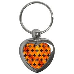 Royal1 Black Marble & Fire Key Chains (heart)  by trendistuff