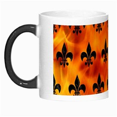 Royal1 Black Marble & Fire Morph Mugs by trendistuff