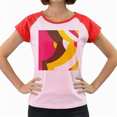 Breast Pink Brown Yellow White Rainbow Women s Cap Sleeve T Shirt by Mariart