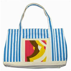 Breast Pink Brown Yellow White Rainbow Striped Blue Tote Bag