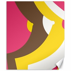 Breast Pink Brown Yellow White Rainbow Canvas 20  X 24   by Mariart