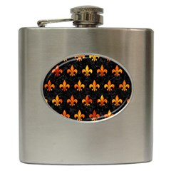 Royal1 Black Marble & Fire (r) Hip Flask (6 Oz) by trendistuff