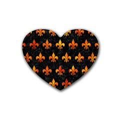 Royal1 Black Marble & Fire (r) Heart Coaster (4 Pack)  by trendistuff
