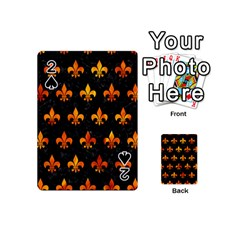 Royal1 Black Marble & Fire (r) Playing Cards 54 (mini)  by trendistuff