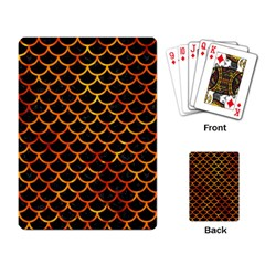 Scales1 Black Marble & Fire Playing Card by trendistuff