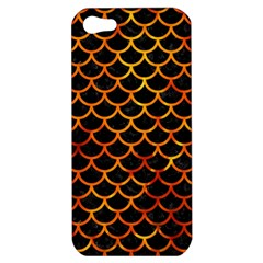 Scales1 Black Marble & Fire Apple Iphone 5 Hardshell Case by trendistuff