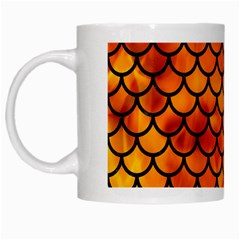Scales1 Black Marble & Fire (r) White Mugs by trendistuff