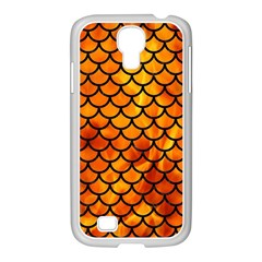 Scales1 Black Marble & Fire (r) Samsung Galaxy S4 I9500/ I9505 Case (white) by trendistuff