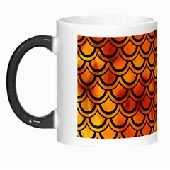 Scales2 Black Marble & Fire (r) Morph Mugs by trendistuff