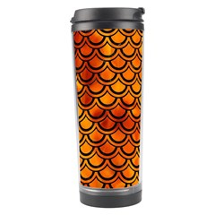 Scales2 Black Marble & Fire (r) Travel Tumbler by trendistuff