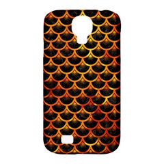Scales3 Black Marble & Fire Samsung Galaxy S4 Classic Hardshell Case (pc+silicone) by trendistuff