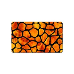 Skin1 Black Marble & Fire Magnet (name Card) by trendistuff
