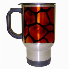 Skin1 Black Marble & Fire Travel Mug (silver Gray) by trendistuff