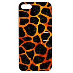 Skin1 Black Marble & Fire (r) Apple Iphone 5 Hardshell Case With Stand by trendistuff