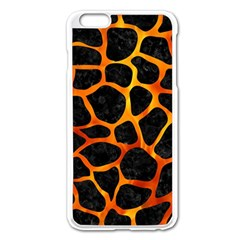 Skin1 Black Marble & Fire (r) Apple Iphone 6 Plus/6s Plus Enamel White Case by trendistuff