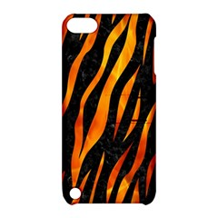 Skin3 Black Marble & Fire Apple Ipod Touch 5 Hardshell Case With Stand by trendistuff
