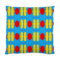 Ovals And Stripes Pattern                      Standard Cushion Case (two Sides) by LalyLauraFLM