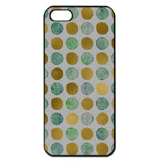 Green And Golden Dots Pattern                      Apple Iphone 5 Seamless Case (black) by LalyLauraFLM
