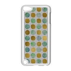 Green And Golden Dots Pattern                      Apple Ipod Touch 5 Case (black) by LalyLauraFLM