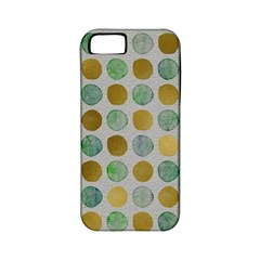 Green And Golden Dots Pattern                      Apple Iphone 4/4s Hardshell Case (pc+silicone) by LalyLauraFLM