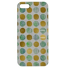 Green And Golden Dots Pattern                      Apple Iphone 4/4s Hardshell Case With Stand by LalyLauraFLM