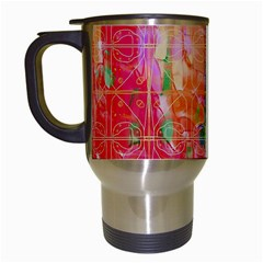 Colorful Watercolors Pattern                            Travel Mug (white) by LalyLauraFLM