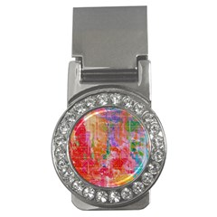 Colorful Watercolors Pattern                            Money Clip (cz) by LalyLauraFLM