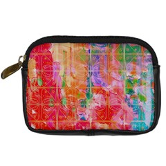 Colorful Watercolors Pattern                       Digital Camera Leather Case by LalyLauraFLM