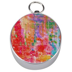 Colorful Watercolors Pattern                            Silver Compass by LalyLauraFLM