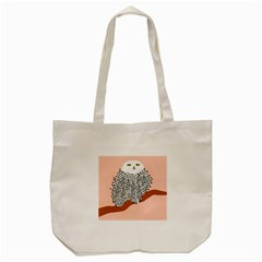 Animals Bird Owl Pink Polka Dots Tote Bag (cream) by Mariart