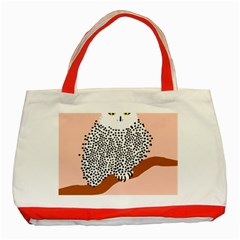 Animals Bird Owl Pink Polka Dots Classic Tote Bag (red) by Mariart