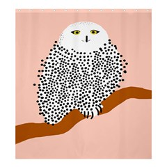 Animals Bird Owl Pink Polka Dots Shower Curtain 66  X 72  (large)