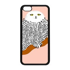 Animals Bird Owl Pink Polka Dots Apple Iphone 5c Seamless Case (black) by Mariart