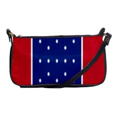 British American Flag Red Blue Star Shoulder Clutch Bags