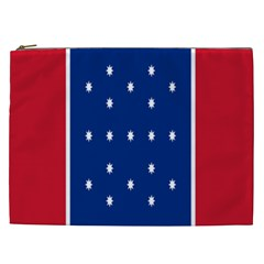 British American Flag Red Blue Star Cosmetic Bag (xxl)  by Mariart