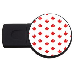 Canadian Maple Leaf Pattern Usb Flash Drive Round (4 Gb) by Mariart