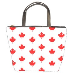 Canadian Maple Leaf Pattern Bucket Bags by Mariart