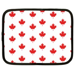 Canadian Maple Leaf Pattern Netbook Case (xl)  by Mariart